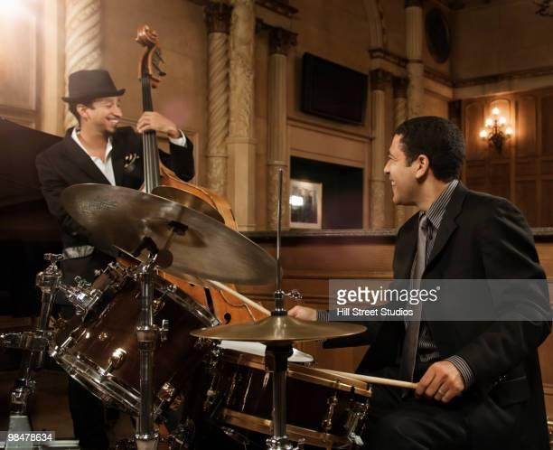 Jazz musicians performing in nightclub
