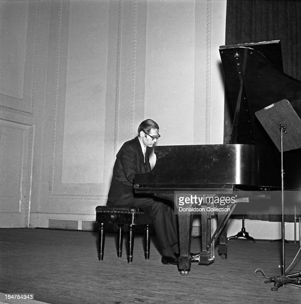Jazz pianist and composer Bill Evans performs at Town Hall on February 21 1966 in New York New York
