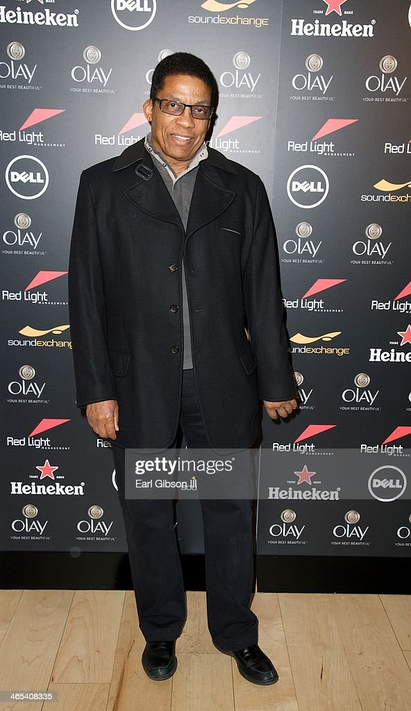 Jazz Pianist Herbie Hancock attends The Grammy Awards Red Light Management After Party at Sky Bar, Mondrian Hotel on January 26, 2014 in West Hollywood, California.