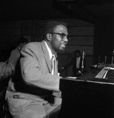 Jazz pianist Thelonious Monk performs at the Basin Street club on April 11 1956 in New York City New York