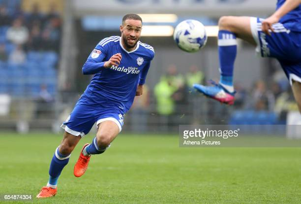 Jazz Richards of Cardiff City chases after the ball during the Sky Bet Championship match between Cardiff City and Ipswich Town at The Cardiff City...