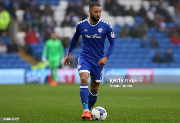 Jazz Richards of Cardiff City during the Sky Bet Championship match between Cardiff City and Ipswich Town at The Cardiff City Stadium on March 18...