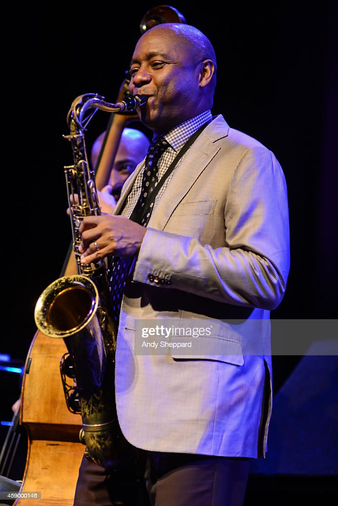 Jazz Saxophonist Branford Marsalis performs on stage during London Jazz Festival 2014 at Queen Elizabeth Hall on November 14 2014 in London United...