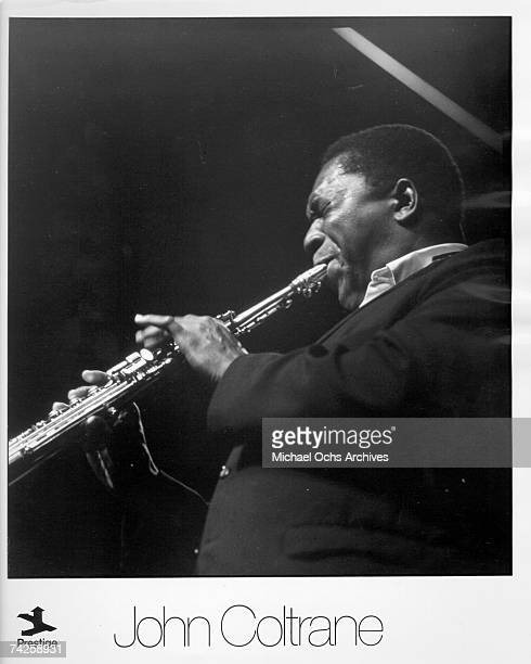 Jazz saxophonist John Coltrane performs onstage in circa 1957
