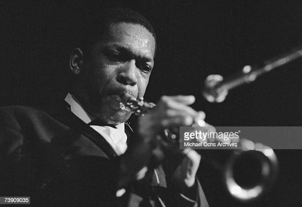 Jazz saxophonist John Coltrane performs onstage in circa 1959 in West Germany