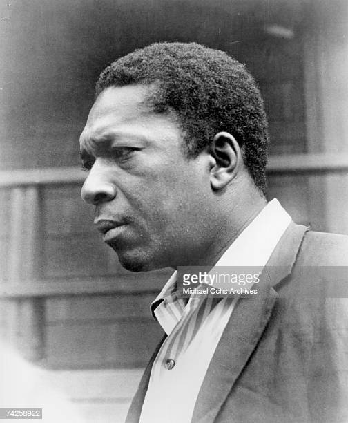 Jazz saxophonist John Coltrane poses for a portrait for the album cover of the record 'A Love Supreme' which was released on December 9 1964