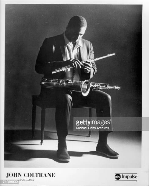 Jazz saxophonist John Coltrane poses for a portrait in circa 1965