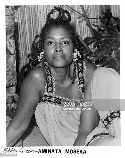 Jazz singer Aminata Moseka poses for a portrait in circa 1985