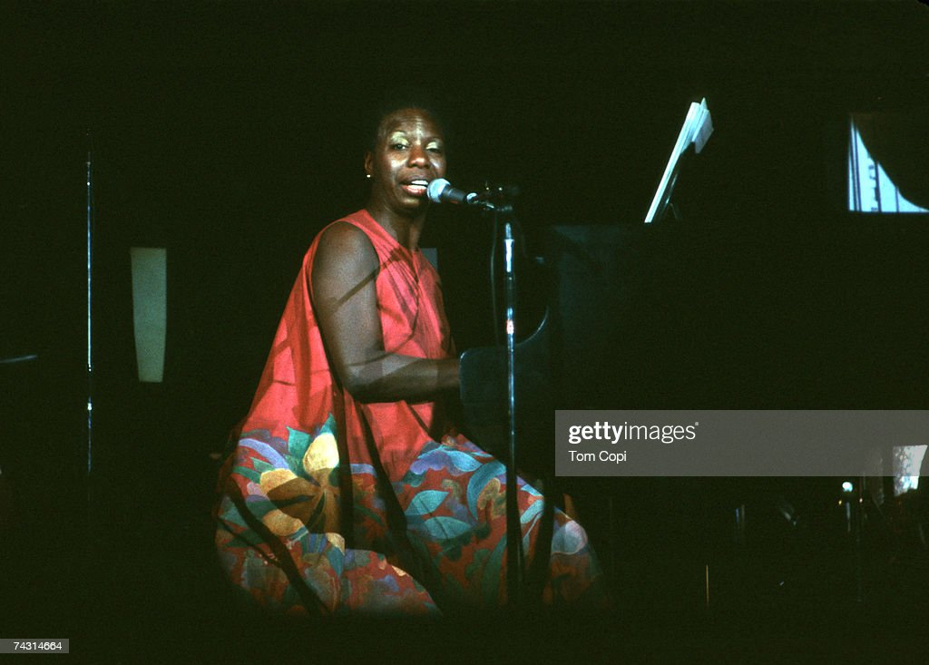 Jazz singer and songwriter performs in a tribute to Billie Holiday at the Oakland Colosseum in December 1979 in Oakland, California.