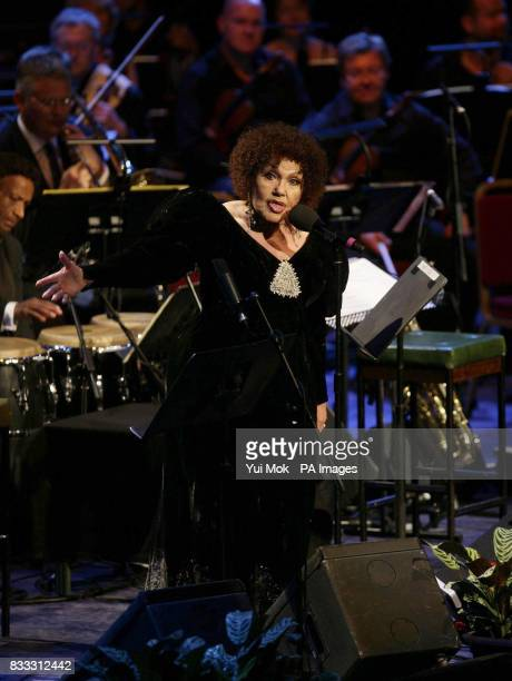 Jazz singer Cleo Laine performing 'From Bards To Blues' as part of the 2007 BBC Proms Season at the Royal Albert Hall central London