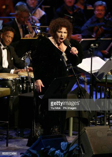 Jazz singer Cleo Laine performs 'From Bards To Blues' as part of the 2007 BBC Proms Season at the Royal Albert Hall central London