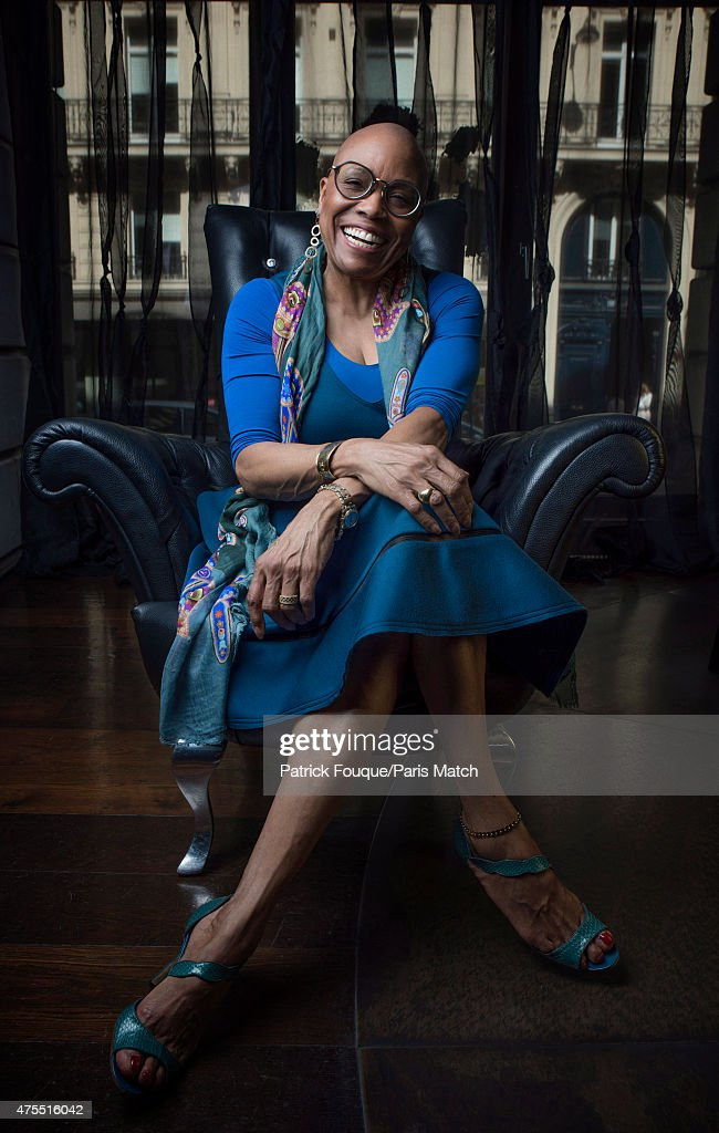 Jazz singer <a gi-track='captionPersonalityLinkClicked' href=/galleries/search?phrase=Dee+Dee+Bridgewater&family=editorial&specificpeople=2518501 ng-click='$event.stopPropagation()'>Dee Dee Bridgewater</a> is photographed for Paris Match on April 14, 2015 in Paris, France.