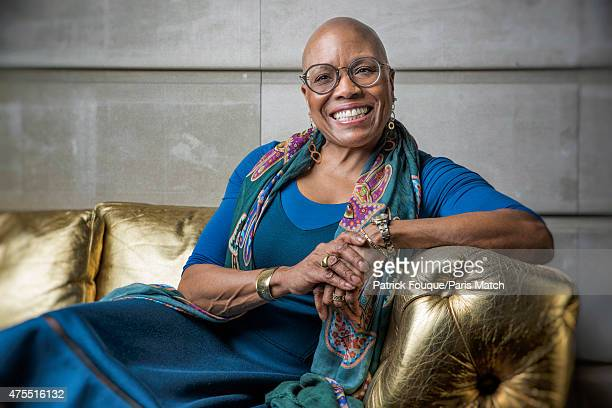 Jazz singer Dee Dee Bridgewater is photographed for Paris Match on April 14 2015 in Paris France