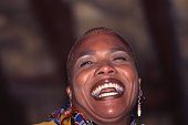 Jazz Singer Dee Dee Bridgewater performing in 1996 in Tampa Florida