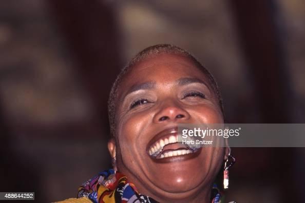 Jazz Singer Dee Dee Bridgewater performing in 1996 in Tampa Florida