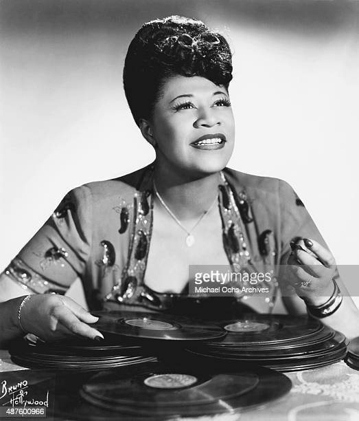 Jazz singer Ella Fitzgerald poses for a portrait circa 1945 in New York City New York