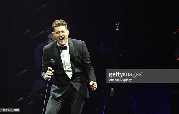 Jazz singer Michael Buble performs in Indonesia Convention Exhibition BSD City Banten Indonesia on January 29 2015 in scope of 'Asia Buble To Be...