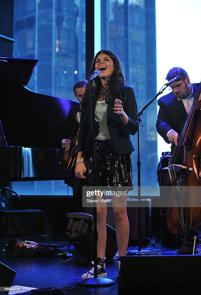 Jazz singer Nikki Yanofsky performs at Dizzy's Club Coca Cola at Jazz at Lincoln Center on May 4 2010 in New York City