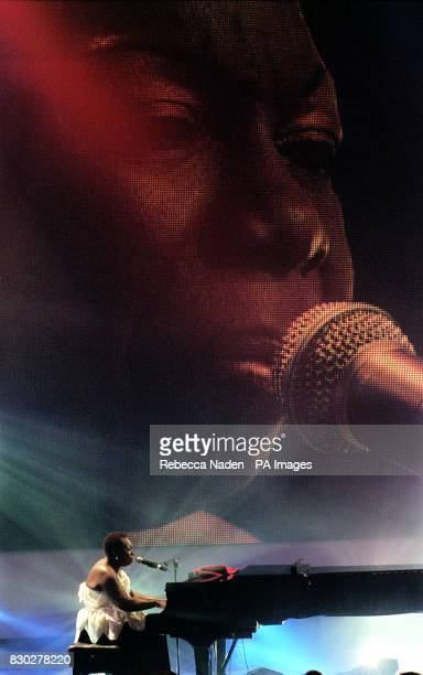Jazz singer Nina Simone performs 'My Baby Just Cares For Me' at the recording of the Channel 4 Music of the Millennium programme * Channel 4 in...