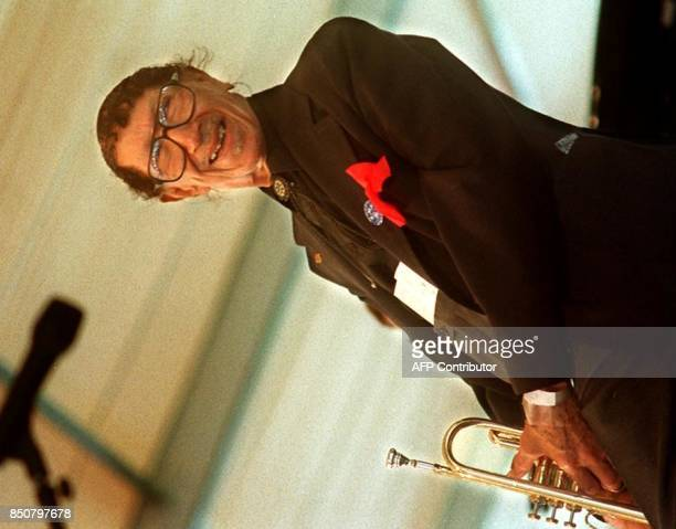 Jazz trumpeter Adolphus 'Doc' Cheatham performs in front of a packed audience at the 1995 New Orleans Jazz Festival LA Cheatham who would have been...