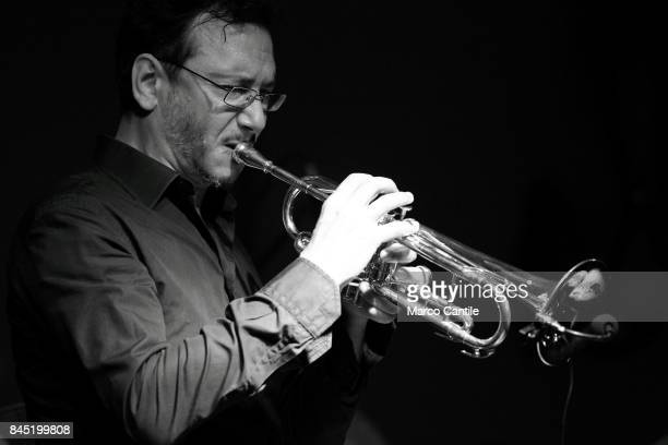 Jazz trumpeter Aldo Bassi during a concert in Jazz Campania Festival