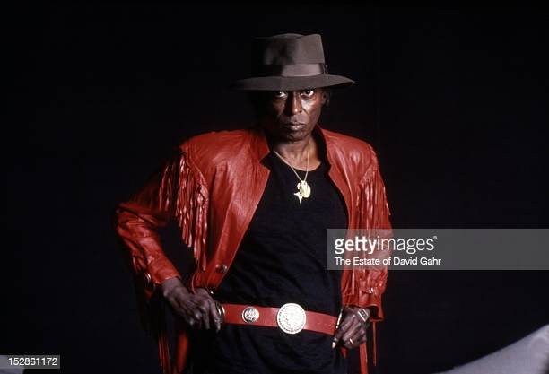 Jazz trumpeter and composer Miles Davis poses for a portrait at home on April 15 1984 in New York City New York