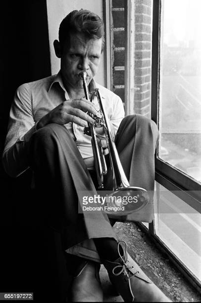 Jazz trumpeter Chet Baker poses in January 1977 in New York City New York