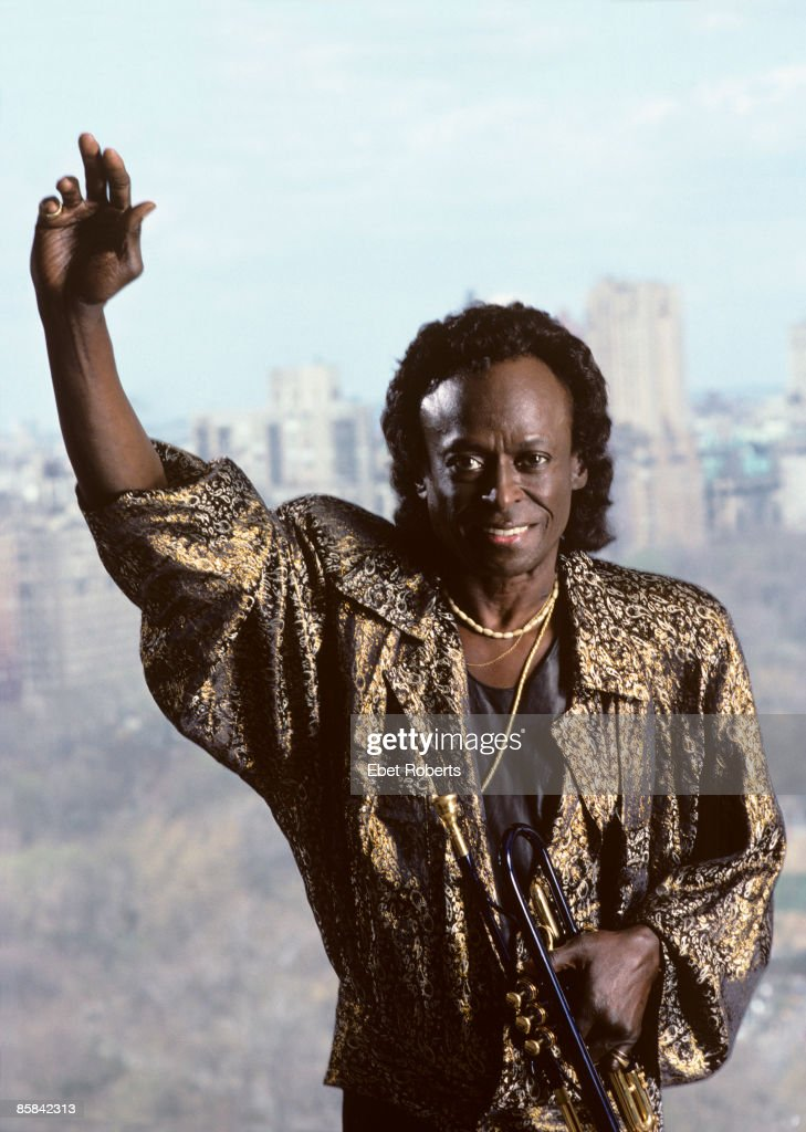 Photo of Miles DAVIS; Posed portrait of Miles Davis