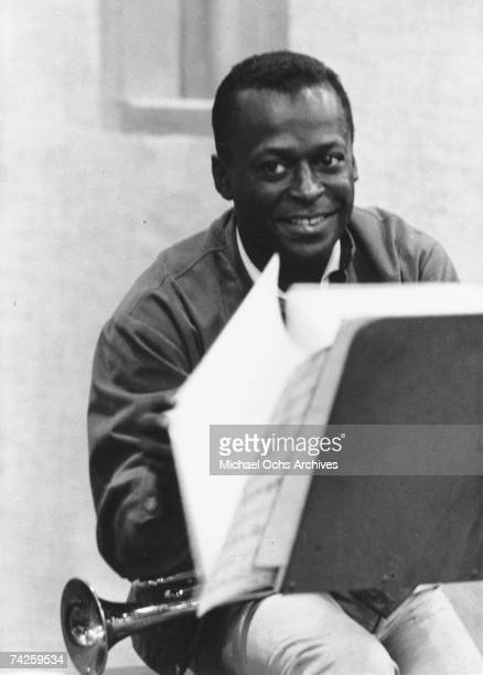 Jazz trumpeter Miles Davis records his album 'Quiet Nights' at 30th Street Studios in August 1962 in New York City New York