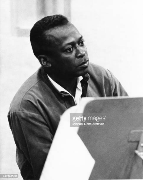 Jazz trumpeter Miles Davis records his album 'Quiet Nights' at 30th Street Studios in August 1962 in New York City New York