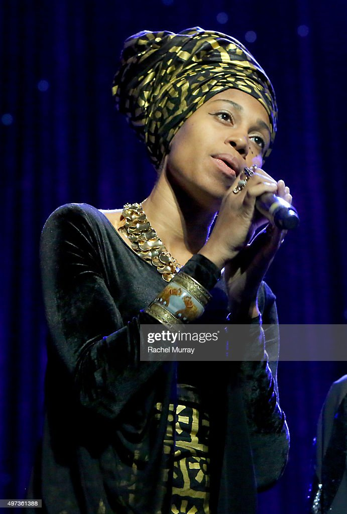 Jazz Vocals Competition winner Jazzmeia Horn performs onstage during the Thelonious Monk Institute International Jazz Vocals Competition 2015 at Dolby Theatre on November 15, 2015 in Hollywood, California.