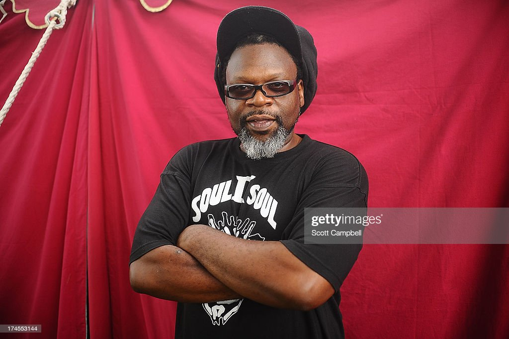 <a gi-track='captionPersonalityLinkClicked' href=/galleries/search?phrase=Jazzie+B&family=editorial&specificpeople=1980425 ng-click='$event.stopPropagation()'>Jazzie B</a> of Soul II Soul poses for portraits on Day 2 of Rewind 80s Festival 2013 at Scone Palace on July 27, 2013 in Perth, Scotland.