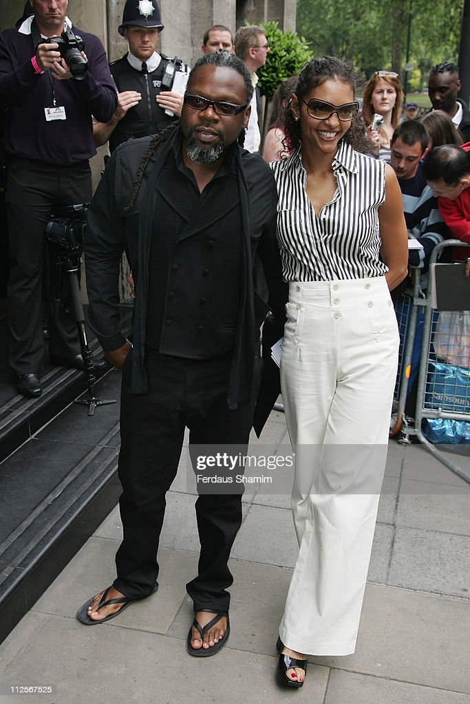 Jazzy B and guest arrive at the the 53rd Ivor Novello Awards held at the Grosvenor House on May 22 2008 in London England