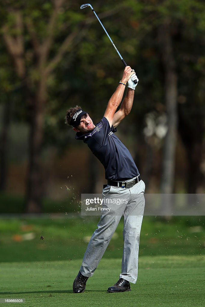Jbe Kruger of South Africa in action during day one of the Avantha Masters at Jaypee Greens Golf Club on March 14, 2013 in Delhi, India.