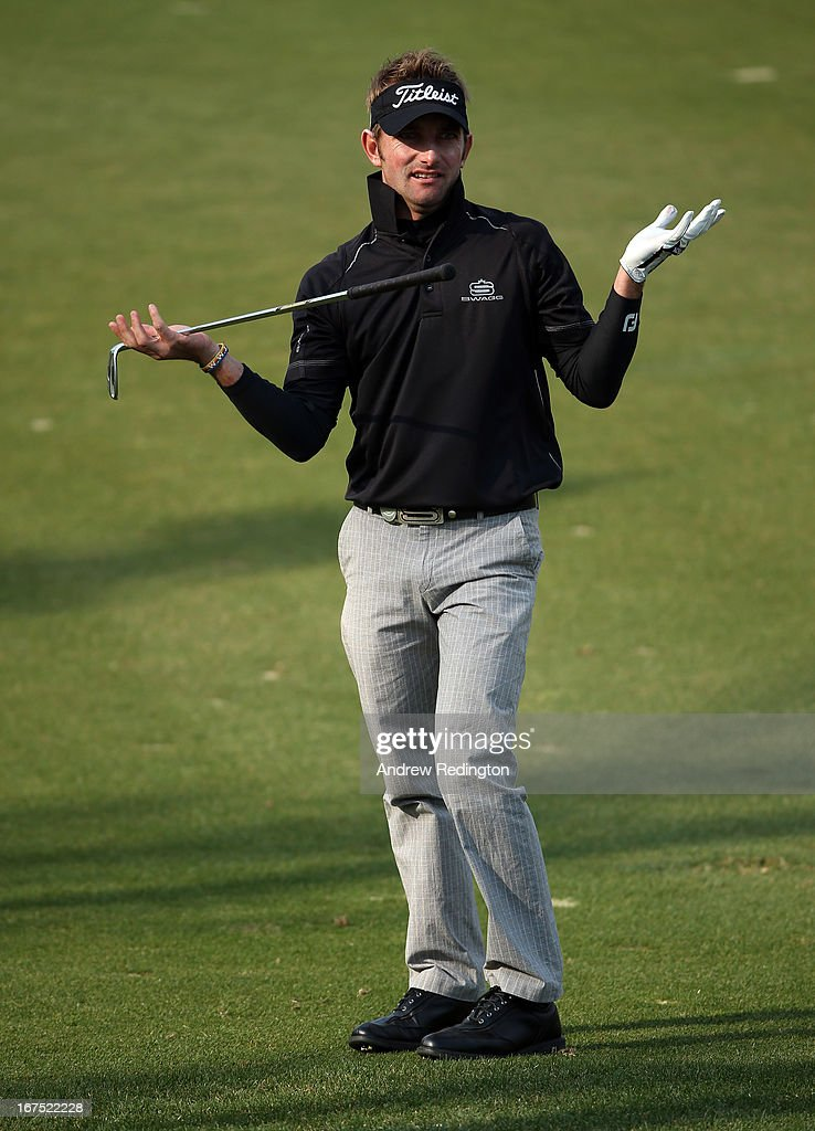 Jbe Kruger of South Africa in action during the second round of the Ballantine's Championship at Blackstone Golf Club on April 26, 2013 in Icheon, South Korea.