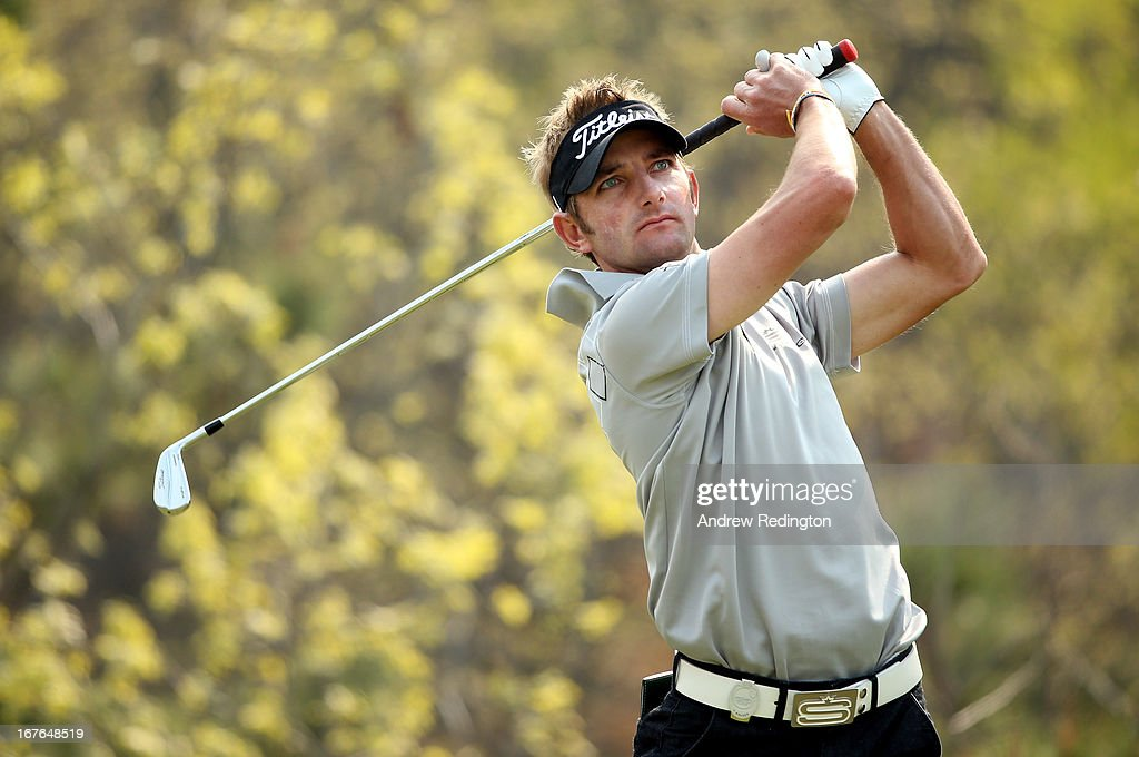 Jbe Kruger of South Africa in action during the third round of the Ballantine's Championship at Blackstone Golf Club on April 27, 2013 in Icheon, South Korea.