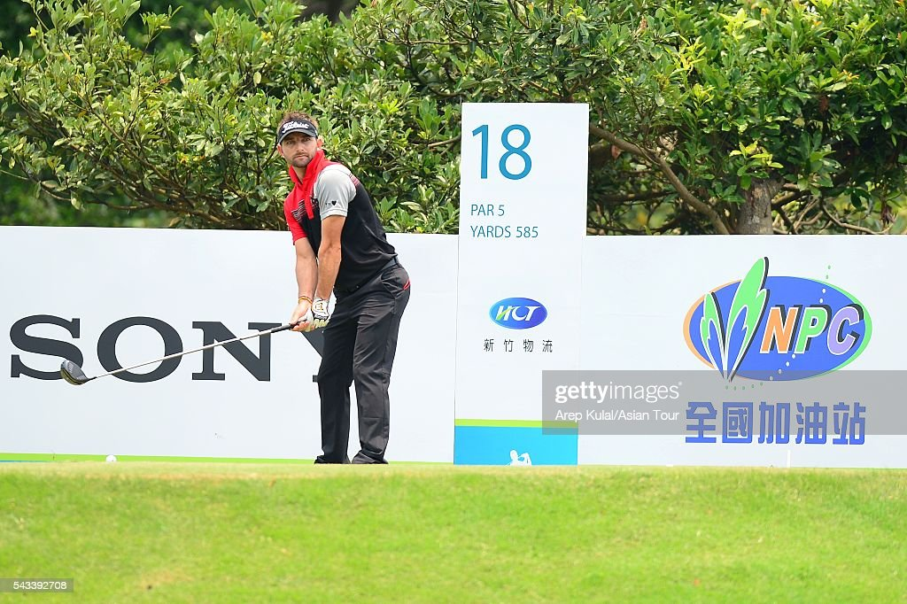 Jbe Kruger of South Africa pictured during the practise round ahead of the Yeangder Tournament Players Championship at Linkou International Golf Club on June 28, 2016 in Taipei, Taiwan.