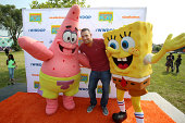 Boogie attends Nickelodeon's Road to Worldwide Day of Play with The Haunted Hathaways actors Curtis and Breanna in Detroit at the Patton Rec Center...