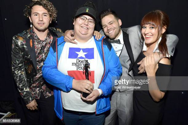 Jc Caylen Christine Sydelko Elijah Daniel and Mamrie Hart attend the 2017 Streamy Awards at The Beverly Hilton Hotel on September 26 2017 in Beverly...