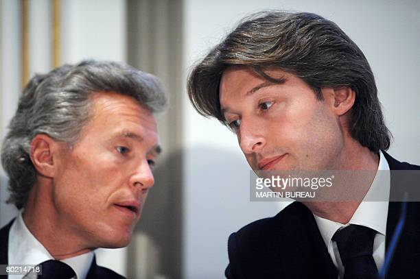 Jc Decaux codirectors JeanFrancois and JeanCharles Decaux give a press conference on March 12 2008 in Paris as they announce the results of 2007 AFP...