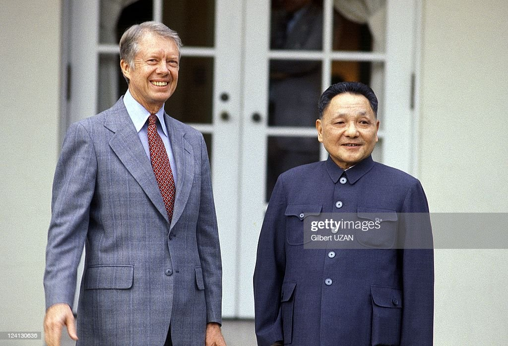 Carter and Deng Xiaoping in Washington United States in November 1979 Deng Zhiaoping and Jimmy Carter on