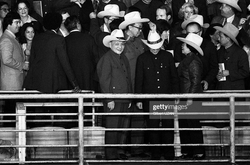 Carter and Deng Xiaoping in Washington United States in November 1979 Deng Xiaoping at a rodeo in Texas