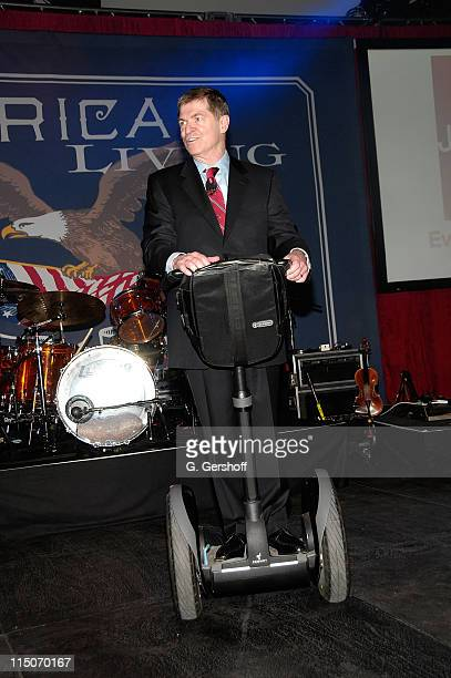 JCPenney Chairman CEO Myron E Ullman III addresses the invited guests at JCPenney's American Living Launch Party at Skylight on February 19 2008 in...