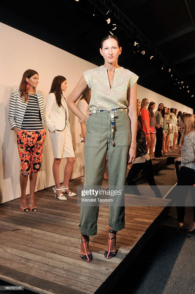 J.Crew Creative Director Jenna Lyons attends the J.Crew presentation during Spring 2014 Mercedes-Benz Fashion Week at The Studio at Lincoln Center on September 10, 2013 in New York City.
