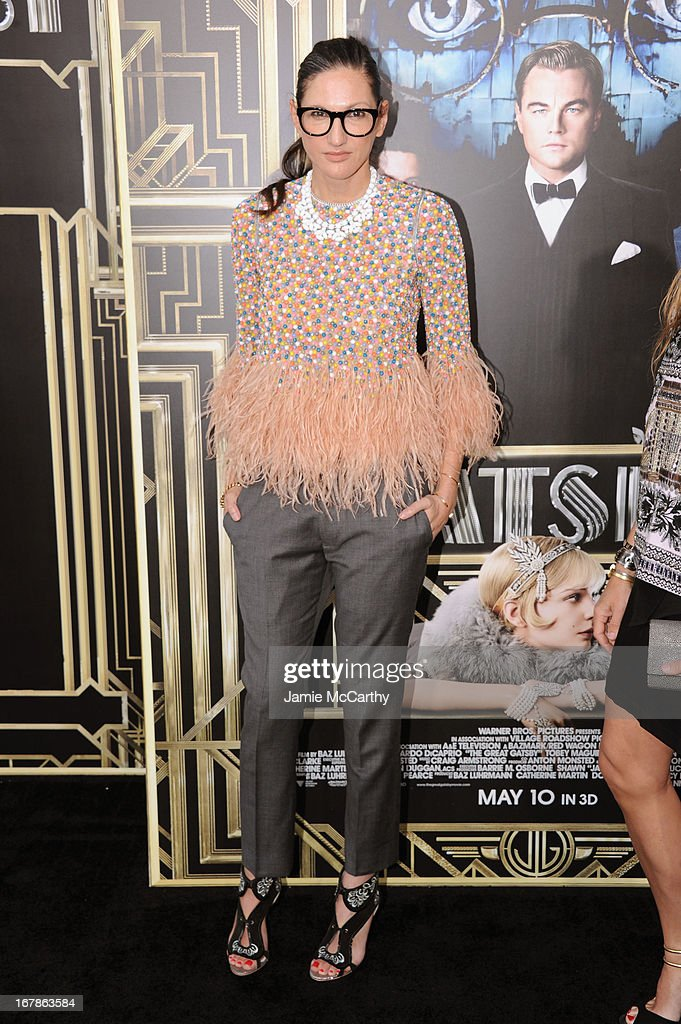 J.Crew executive creative director Jenna Lyons attends the 'The Great Gatsby' world premiere at Avery Fisher Hall at Lincoln Center for the Performing Arts on May 1, 2013 in New York City.
