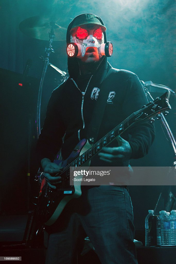 J-Dog of Hollywood Undead performs in concert at St. Andrew's Hall on January 16, 2013 in Detroit, Michigan.