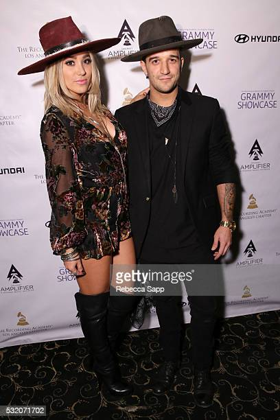 Jean and Mark Ballas of Alexander Jean attend Los Angeles GRAMMY Showcase at The Fonda Theatre on May 17 2016 in Los Angeles California