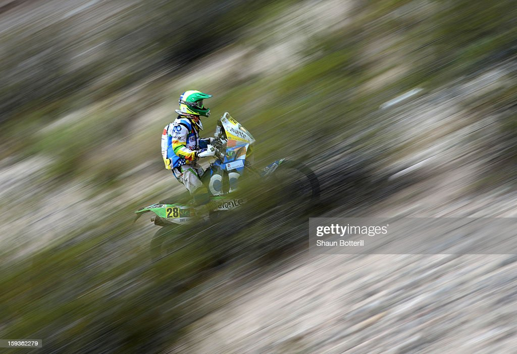 Jean Azevedo of Team Brazil Dakar competes in Stage 8 from Salta to Tucuman during the 2013 Dakar Rally on January 12, 2012 in Salta, Argentina.