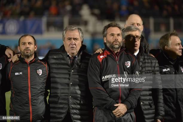 Jean Baptiste ELISSALDE / Rene BOUSCATEL / Ugo MOLA / La Maseillaise / Hommage aux victimes des attentas de Paris Saracens / Toulouse Champions Cup...