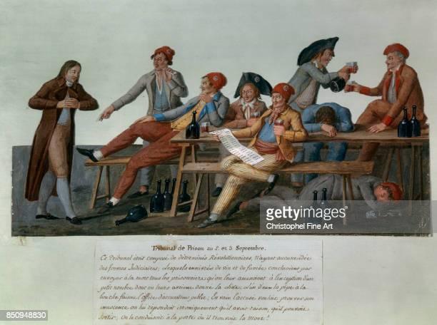 Jean Baptiste Lesueur Prison Tribunal of 2 and 3 September 1792 Gouache Paris Carnavalet Museum